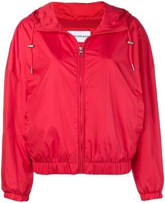 Calvin Klein Jeans logo print hooded jacket