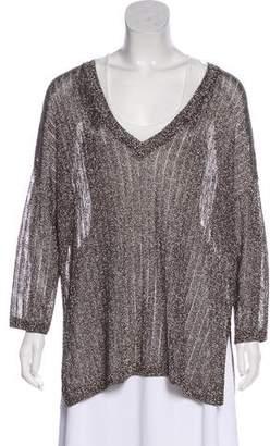 Amanda Wakeley Metallic Long Sleeve Top