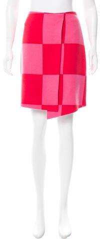 MSGM Wool-Blend Printed Skirt w/ Tags
