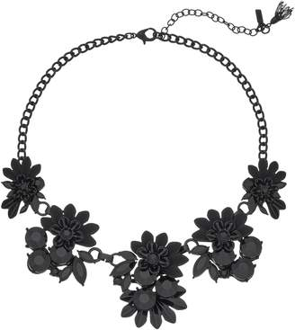 Flower statement necklace shopstyle vera wang simply vera black flower statement necklace mightylinksfo