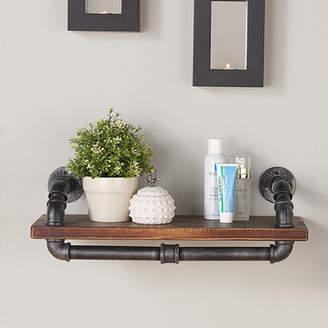 Trent Austin Design Duran Industrial Walnut Wood Floating Shelf