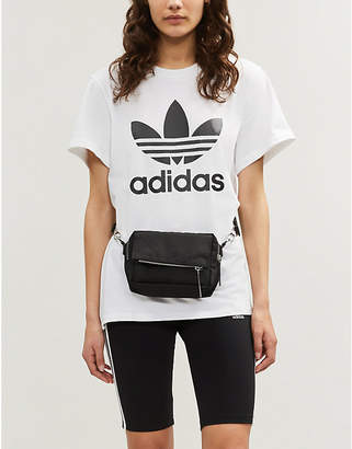 adidas Trefoil logo-print cotton-jersey T-shirt
