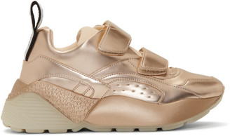 Stella McCartney Gold Eclypse Sneakers
