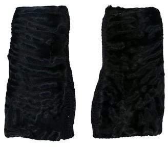 Marni Fingerless Persian Lamb-Trimmed Gloves