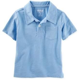 Osh Kosh Size 3T Heather Polo Shirt in Blue