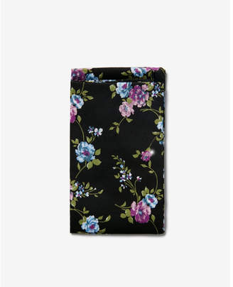 Express pre-folded cotton floral pocket square