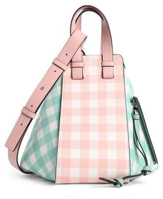 Loewe Small Hammock Gingham Leather Shoulder Bag