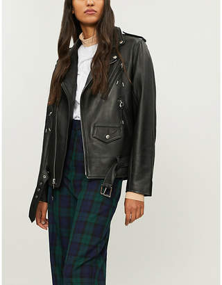 Toga Lace-up leather jacket