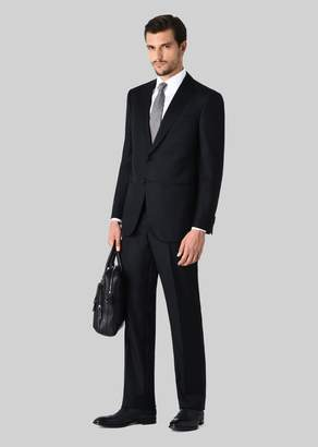 Giorgio Armani Wall Street Wool And Cashmere Suit