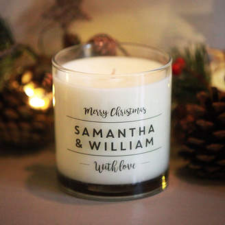 Intervino Personalised Christmas Candle