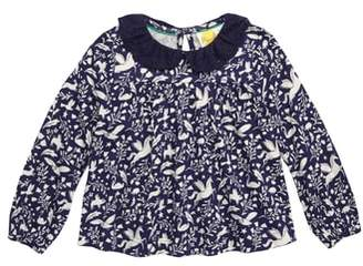 Boden Mini Broderie Collar Top