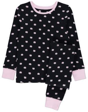 CAT George Black and Pink Face Print Pyjamas