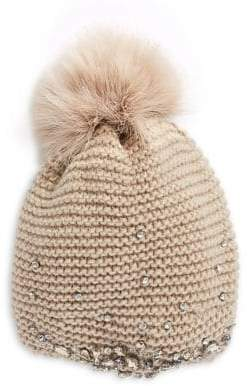 Echo Feather Pom Embellished Wool-Blend Hat
