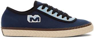 Marni Bi-colour low-top canvas trainers