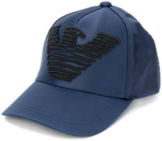 Emporio Armani embroidered logo cap