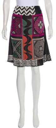 Etro Abstract Print Knee-Length Skirt
