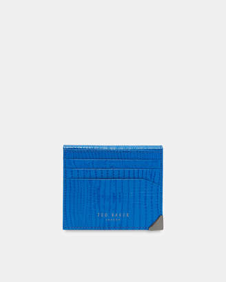 Ted Baker SHELLS Lizard-effect bi-fold leather card holder