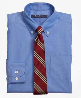 Brooks Brothers Non-Iron Supima Pinpoint Cotton Dress Shirt