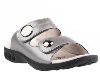 Therafit Leather Adjustable Strap Slip-On Sandals - Eva