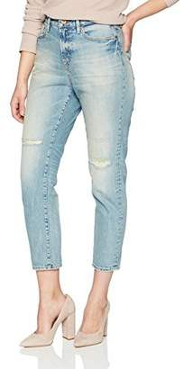Denim Bloom Women's High Waisted Tapered Fit Comfort Stretch Jean