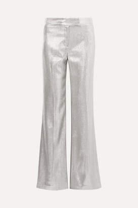 Rachel Zoe Eden Metallic Woven Wide-leg Pants - Silver