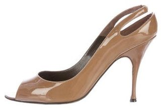 Brian Atwood Patent Leather Slingback Pumps $95 thestylecure.com