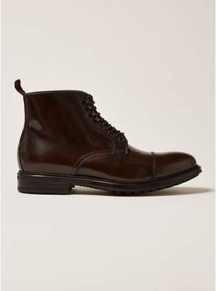 Topman Mens Brown Premium Leather Orpin Lace Up Boots