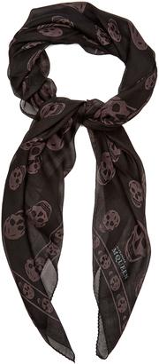 ALEXANDER MCQUEEN Skull-print silk-chiffon scarf $182 thestylecure.com