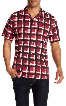 7 For All Mankind Haze Plaid Short Sleeve Regular Fit Shirt
