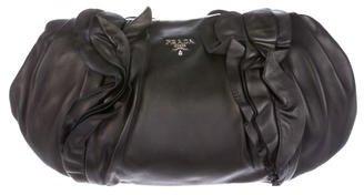 pradaPrada Ruffled Nappa Leather Clutch