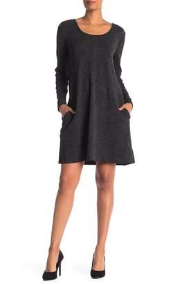 Nina Leonard Glitter Seam Pocket Dress