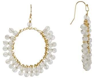 Panacea Beaded Stone Circle Earrings