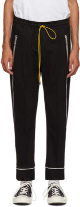 Rhude Black Smoking Traxedo Trousers
