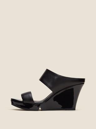 DKNY Kami Leather Wedge Sandal