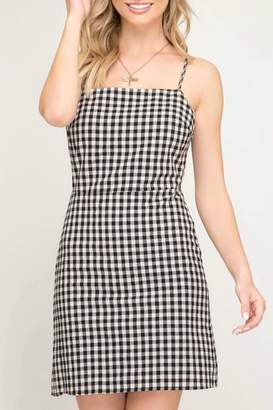 Pretty Little Things Gingham Mini Dress
