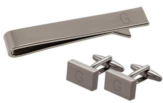 Cathy's Concepts Monogram Cuff Links & Tie Bar Set