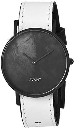 South Lane 'DIFFUSE' Swiss Quartz Stainless Steel and Leather Casual Watch