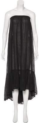 Black Crane Sleeveless Maxi Dress