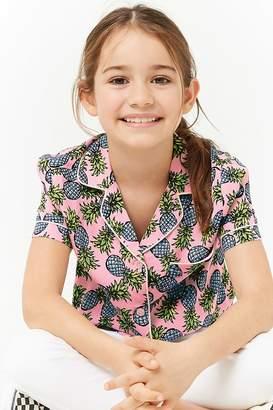 Forever 21 Girls Pineapple Print Shirt (Kids)