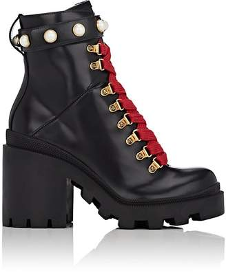 Gucci Women's Trip Leather Ankle Boots