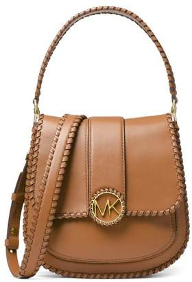 Michael Kors Light Brown Lillie Medium Flap Messenger Bag