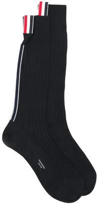 Thom Browne stripe detail socks