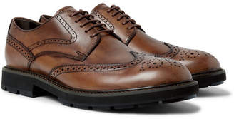 Tod's Leather Wingtip Brogues - Brown