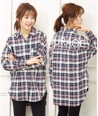 INGNI (イング) - INGNI BACKロゴチェックシャツ