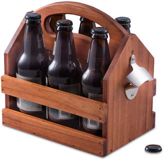 Bey-Berk 6-Pack Wooden Caddy