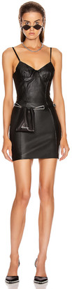 Alexander Wang Stretch Leather Dress in Black | FWRD