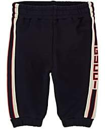 Gucci Infants' Logo Cotton French Terry Sweatpants - Navy