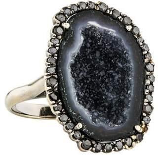 Kimberly McDonald 18K Geode & Diamond Cocktail Ring