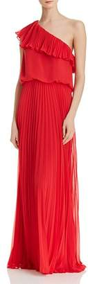 Avery G One-Shoulder Chiffon Gown