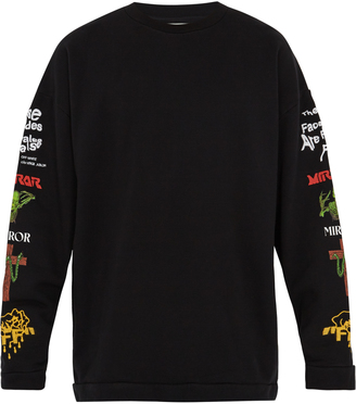 OFF-WHITE Mix Rock cotton-jersey sweatshirt $360 thestylecure.com
